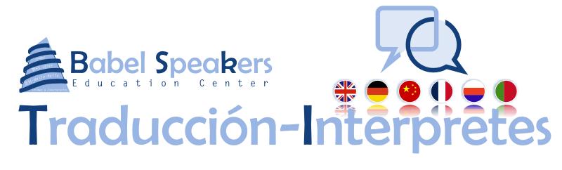 Servicios de traducción e intérpretes